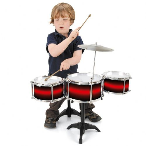 My First Drum Set Kit Kids Children Musical Fun Toy Drum Stick with stool